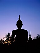 Asia, silhouette, Statue, Sukothai, Thailand, Asia, . Asia, Holiday, Landmark, Silhouette, Statue, Sukothai, Thailand, Tourism, Travel, Vacation, World travel
