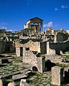 Africa, architecture, Dougga, Roman, ruins, Tunisia. Africa, Architecture, Dougga, Holiday, Landmark, Roman, Ruins, Tourism, Travel, Tunisia, Vacation, World travel
