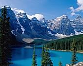 Alberta, Banff, Banff National Park, Canada, cold, . Alberta, Banff, Banff national park, Canada, North America, Cold, Forest, Holiday, Isolated, Isolation, Lake, Landmark, Moraine
