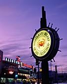 California, fishermans wharf, night, nightlife, San. America, California, Fishermans, Holiday, Landmark, Night, Nightlife, San francisco, Sign, Tourism, Travel, United states, USA