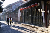 China, Asia, Lijiang, Narrow Streets and Old Wooden. And, Asia, Buildings, China, Heritage, Holiday, Landmark, Lijiang, Narrow, Old, Old town, Province, Street scene, Streets, Touri