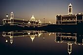 Delhi, India, Night View, Secretariat Buildings, Ut. Buildings, Delhi, Holiday, India, Asia, Landmark, Night, Secretariat, Tourism, Travel, Uttar pradesh, Vacation, View