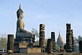 Seated Buddha, Sukhothai, Thailand, Asia, UNESCO Wo. Asia, Buddha, Heritage, Holiday, Landmark, Seated, Sukhothai, Thailand, Tourism, Travel, Unesco, Vacation, Wat mahathat, World