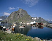 Fishing Boats, Hamnoy, Lofoten Islands, Norway, . Fishing boats, Hamnoy, Holiday, Islands, Landmark, Lofoten, Norway, Europe, Tourism, Travel, Vacation