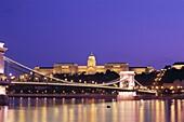 Buda, Budapest, Danube River, Hungary, Night View, . Bridge, Buda, Budapest, Chain, Danube river, Holiday, Hungary, Europe, Landmark, Night, Royal palace, Szechenyi, Tourism, Travel