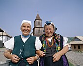 Holloko, Hungary, Local Elderly Women, Traditional. Elderly, Holiday, Holloko, Hungary, Europe, Landmark, Local, Tourism, Traditional costume, Travel, Vacation, Women