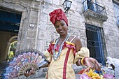 Colonial Dress, Cuba, Habana, Havana, Model Release. Colonial, Cuba, Dress, Habana, Havana, Holiday, Landmark, Model, Released, Tourism, Traditional costume, Travel, Vacation, Woman