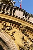 Croatia, Exterior Sculpture Detail, Marshal Tito Sq. Croatia, Europe, Croatian, Detail, Exterior, Holiday, Landmark, Marshal, National, Sculpture, Square, Theatre, Tito, Tourism, Tr