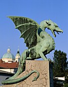 Dragon Bridge, Statue, Ljubljana, Slovenia, Zma. Bridge, Dragon, Holiday, Landmark, Ljubljana, Most, Slovenia, Europe, Statue, Tourism, Travel, Vacation, Zmajski