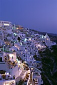 Cyclades Islands, Fira, Greece, Night View, Santori. Cyclades, Fira, Greece, Europe, Holiday, Islands, Landmark, Night, Santorini, Thira, Tourism, Travel, Vacation, View