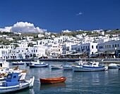 Cyclades Islands, Greece, Mykonos, Town View, . Cyclades, Greece, Europe, Holiday, Islands, Landmark, Mykonos, Tourism, Town, Travel, Vacation, View