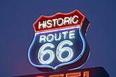 Arizona, Motel Sign, Night View, Route 66, Seligman. America, Arizona, Holiday, Landmark, Motel, Night, Route 66, Seligman, Sign, Tourism, Travel, United states, USA, Vacation, View