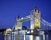England, London, Night View, Thames River, Tower Br. England, United Kingdom, Great Britain, Holiday, Landmark, London, Night, Thames river, Tourism, Tower bridge, Travel, Vacation