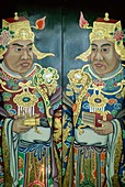 Art, Asia, Chinatown, Chinese, Chinese Art, Orienta. Art, Asia, Chinatown, Chinese, Door, Holiday, Landmark, Oriental, Painting, Singapore, Asia, Temple, Thian hock keng temple, Tou