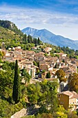 The picturesque village of Moustiers-Sainte-Marie, Provence, France, Europe