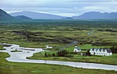 Iceland, World Heritage Site, Thingvellir, The site of the first Icelandic Parliament or Althing