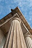 Corner column of a historic building. McKim Center, Baltimore Maryland USA