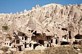 geological formations, zelve open-air museum, cappadocia, anatolia, turkey, asia