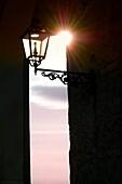 A lamp post church Santa Maria dei Bagni Pesche Molise Italy