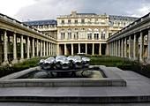 Silver Sphere sculpture courtyard Palais Royal Paris France