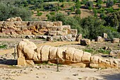 Italy, Sicily, Agrigento, Valley of the Temples, Valle dei Templi, Archaeological area, Telamone statue
