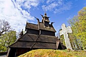 Views from a classic stave church preserved in the city of Oslo, Norway  MORE INFO A stave church is a medieval wooden church with a post and beam construction related to timber framing  All of the surviving stave churches except one are or were in Norway