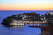Croatia, Dubrovnik, general view at sunset