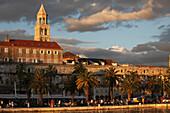 Croatia, Split, skyline, general view, cathedral