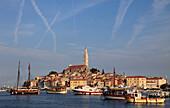 Croatia, Istria, Rovinj, skyline, harbour, general panoramic view