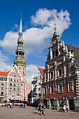 Latvia, Riga city, House of Blackheads and San Peter«s Church