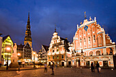 Latvia, Riga city, House of Blackheads and San Peter«s Church