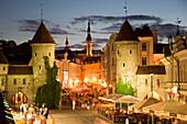 Estonia, Tallin City, Lower Old City, Viru Gates