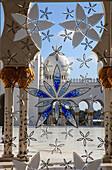 United Arab Emirates, Abu Dhabi, Sheikh Zayed bin Sultan al-Nahyan Mosque, interior