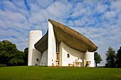 France- June 2009 Roncham City Church of Notre Dame du Haut (built by Le Corbusier)
