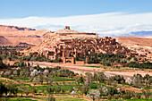 Morocco-South Morocco-Atlas Mountains, Ait Ben Haddou-Kasbah-(W.H.)