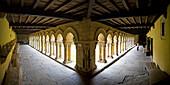 Spain-September 2009 Cantabria Region Santillana de Mar City Santa Juliana Colegiata Cloister