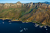 South Africa, Western Cape Province, Cape Town, aerial view on the city and Table Mountain