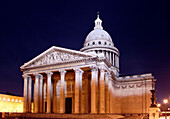 France, Paris, 5th, Le Pantheon at night