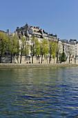 France, Ile-de-France, Capital, Paris, 4th, City center, Island Saint Louis, Bank of the Seine