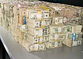 US Bills in Bundles, Chicago, Illinois, USA