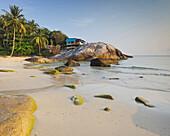 Bungalows on the Thong Reng Beach, Koh Phangan Island, Thailand