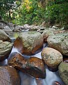 River Hin Lad with rocks, Koh Samui Island, Surat Thani Province, Thailand