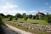 Farmhouse with garden, Klein Thurow, Roggendorf, Mecklenburg-Western Pomerania, Germany
