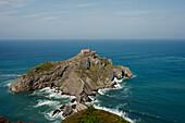 Seaman's chapel on a rocky island, San Juan de Gaztelugatxe, Cape of Matxitxako, Province of Guipuzcoa, Basque Country, Euskadi, Northern Spain, Spain, Europe