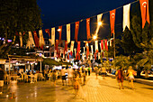 Kas at night, nightlife, lycian coast, Lycia, Mediterranean Sea, Turkey, Asia