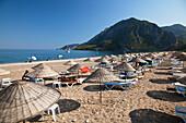 Olympos Beach near ancient Olympos, Cirali, lycian coast, Lycia, Mediterranean Sea, Turkey, Asia