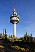 Broadcasting tower, transmitter mast at Rossbrand, Radstadt, Salzburg, Austria