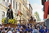 Statue of Jesus Christ at the easter procession, Semana Santa, La Orotava, Tenerife, Canary Islands, Spain, Europe