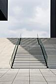 Staircase at the Media Harbour, Duesseldorf, North Rhine-Westphalia, Germany, Europe