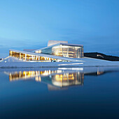 Oslo Opera House. The Oslo Opera House is situated at the head of Oslo Fjord in the city center. The building was designed by architects Snohetta and opened in 2008.